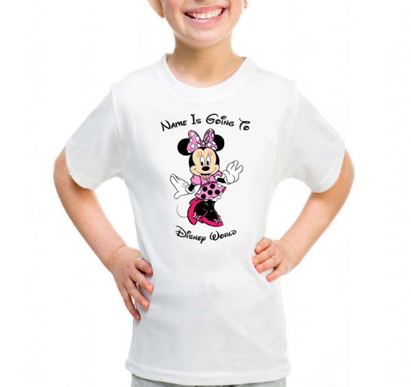 Minnie Pink Going To Disney T-shirt